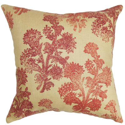 Efterpi Floral Linen Throw Pillow Cover Size: 18 x 18