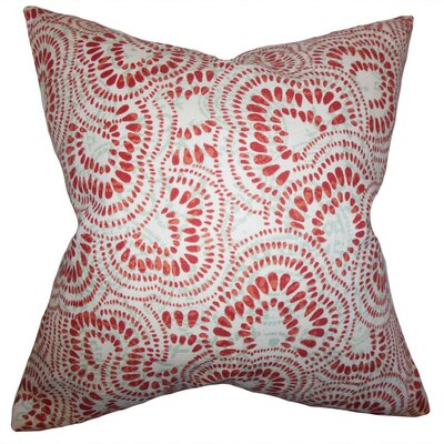 Glynis Floral Cotton Throw Pillow Cover Color: Mint Red