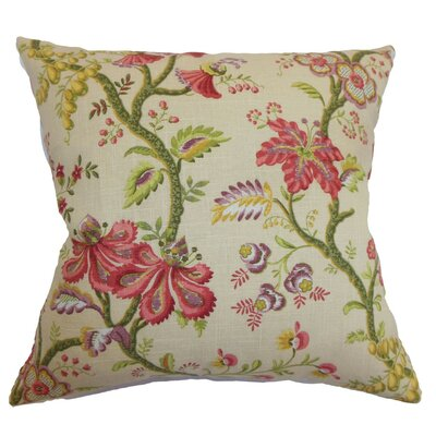 Quesnel Floral Throw Pillow Cover Size: 18 x 18, Color: Antique