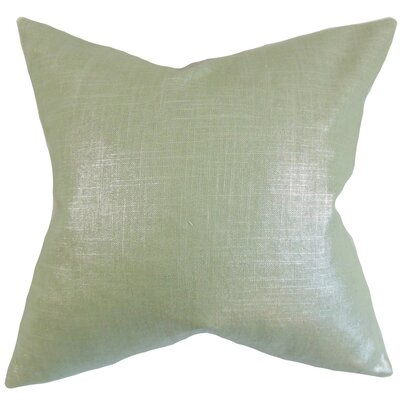 Florin Solid Throw Pillow Cover Color: Aqua