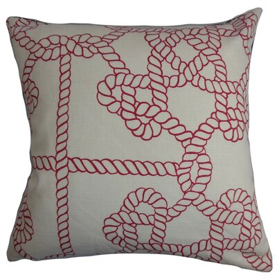 Aragon Nautical Throw Pillow Cover Size: 18 x 18