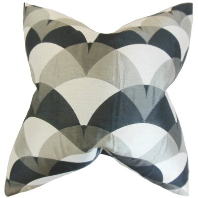 Carlsen Geometric Throw Pillow Cover Color: Gray Black