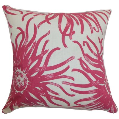 Ndele Floral Throw Pillow Cover Color: Rosewood