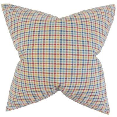 Hye Plaid Cotton Throw Pillow Size: 22 x 22
