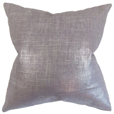 Florin Solid Throw Pillow Cover Color: Amethyst