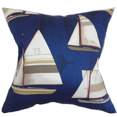 Hemavan Nautical Cotton Throw Pillow Cover Size: 18 x 18