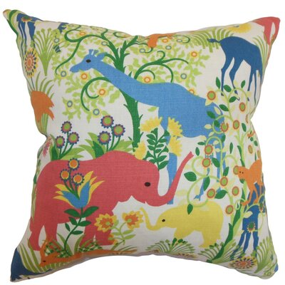 Bristol Flora and Fauna Square Throw Pillow Cover Size: 18 x 18
