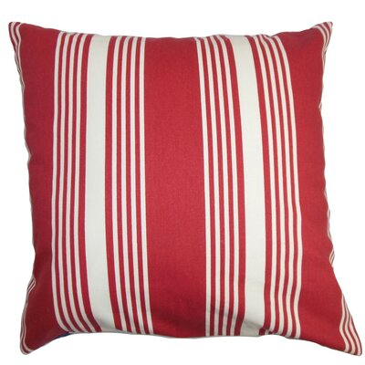 Perri Stripes Cotton Throw Pillow Cover Size: 20 x 20, Color: Summer