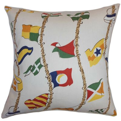 Inagua Flags Cotton Throw Pillow Cover Size: 18 x 18