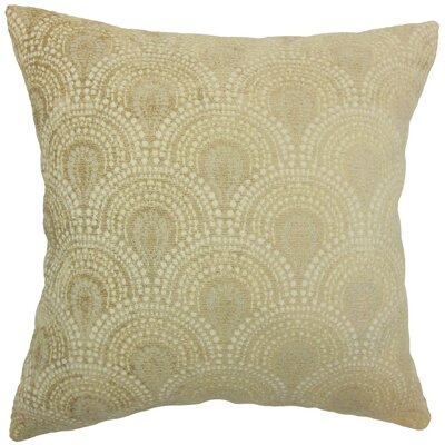 Yaru Geometric Throw Pillow Cover Color: Natural
