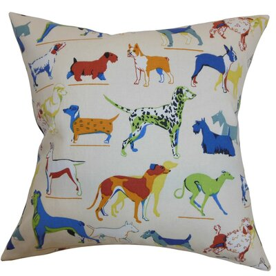 Bunker Dogs Print Cotton Throw Pillow Cover Size: 20 x 20