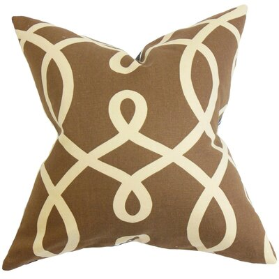 Chloris Geometric Throw Pillow Cover Size: 18 x 18, Color: Chocolate
