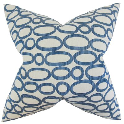 Razili Geometric Throw Pillow Cover Color: Blue