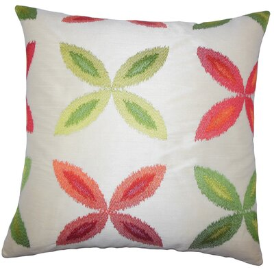 Syshe Ikat Throw Pillow Cover Color: Red Green
