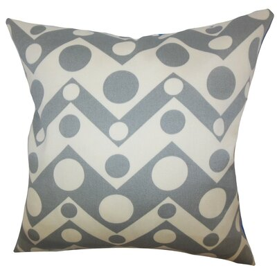 Quenby Geometric Throw Pillow Cover Color: Gray