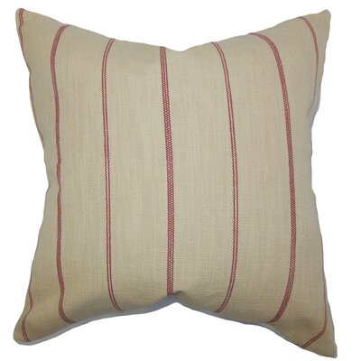 Fairfax Stripes Throw Pillow Cover Size: 18 x 18