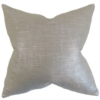 Berquist Throw Pillow Color: Pewter, Size: 18 x 18