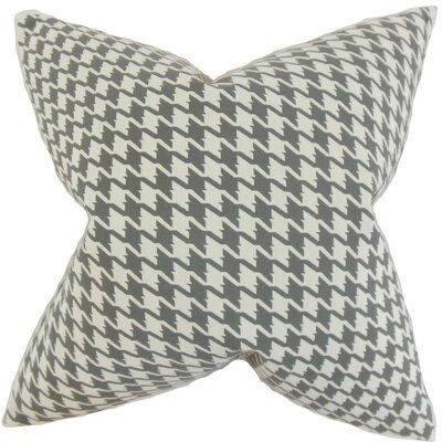 Presley Houndstooth Throw Pillow Cover Color: Mineral