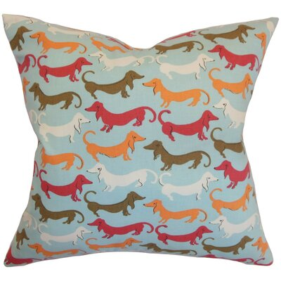 Ione Animal Print Cotton Throw Pillow Cover Color: Carnival