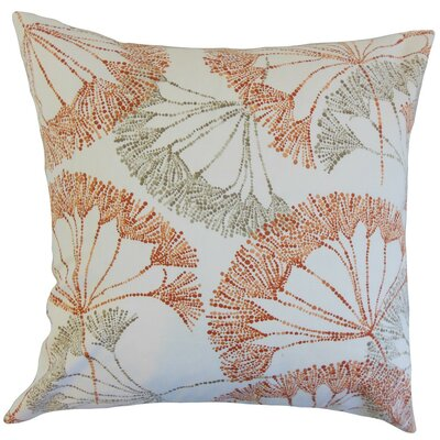 Grove Floral Cotton Throw Pillow Cover Color: Persimmon