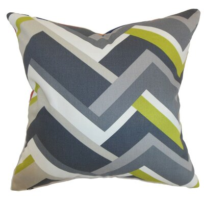 Hoonah Geometric Cotton Throw Pillow Cover Size: 18 x 18, Color: Grey