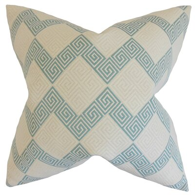 Sandrine Geometric Throw Pillow Cover Color: Teal