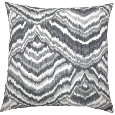 Qadry Ikat Cotton Throw Pillow Cover Size: 18 x 18