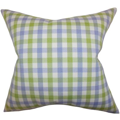 Jewell Plaid Throw Pillow Cover Size: 18 x 18