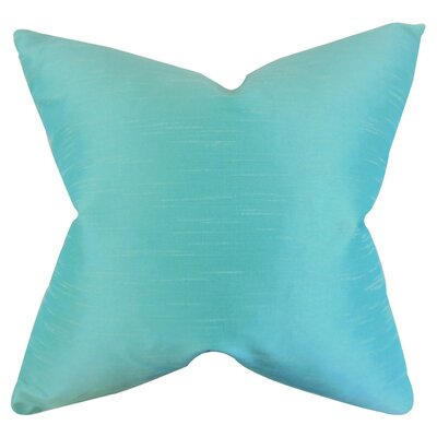 Acker Solid Throw Pillow Cover Color: Aquamarine