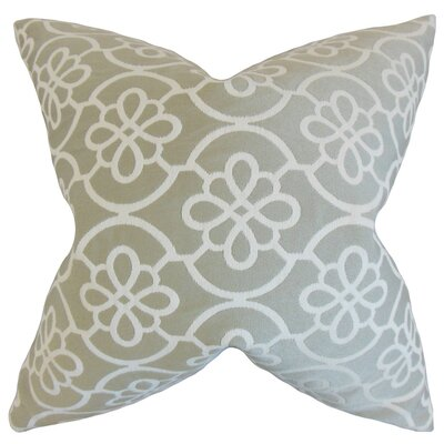 Chaplain Geometric Throw Pillow Cover Color: Dove