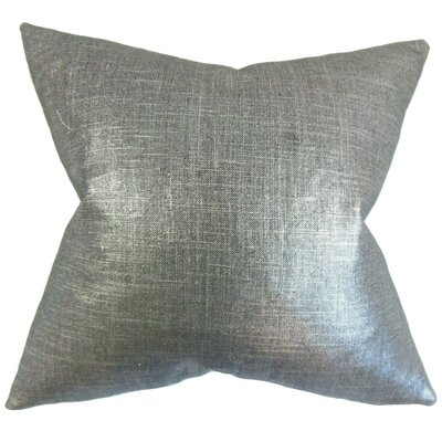 Florin Solid Throw Pillow Cover Color: Coal