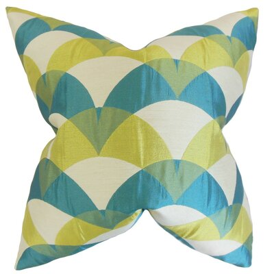 Carlsen Geometric Throw Pillow Cover Color: Blue