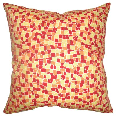 Bentlee Mosaic Tile Cotton Throw Pillow Size: 18 x 18