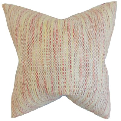Lakota Stripes Throw Pillow Cover Color: Blossom
