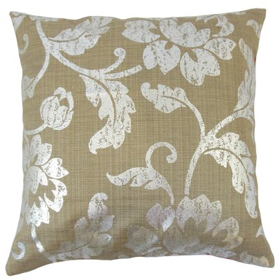 Berdine Floral Throw Pillow Cover Color: Cocoa