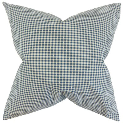 Hye Plaid Cotton Throw Pillow Cover Color: Blue