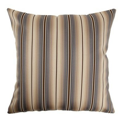 Bailey Stripes Throw Pillow Cover Size: 20 x 20, Color: Storm