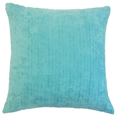 Tahsin Solid Outdoor Throw Pillow Size: 18 x 18