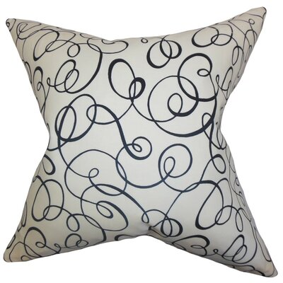 Nuru Spiral Cotton Throw Pillow Size: 18 x 18