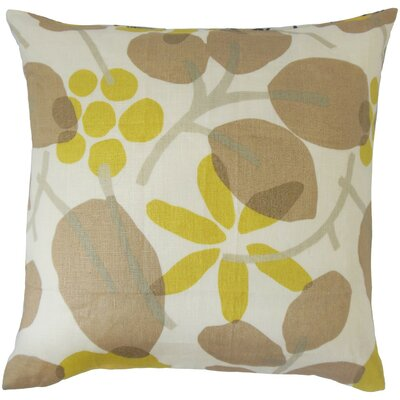 Delit Floral Linen Throw Pillow Size: 22 x 22