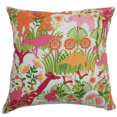 Bristol Flora and Fauna Throw Pillow Cover Size: 18 x 18, Color: Bubblegum