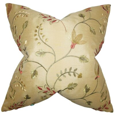 Denisha Floral Throw Pillow Cover Size: 20 x 20