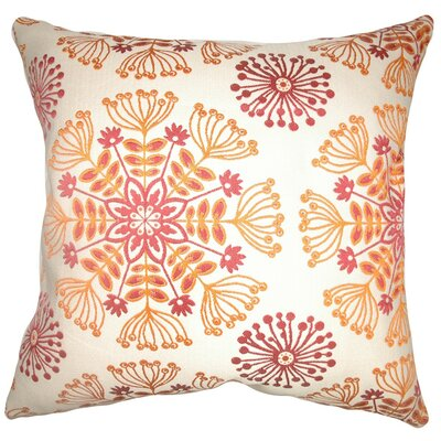 Jamesie Floral Throw Pillow Cover Color: Flame
