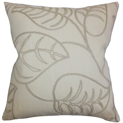 Fabrizia Floral Throw Pillow Cover Color: Linen