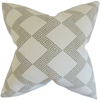 Sandrine Geometric Throw Pillow Cover Color: Iron