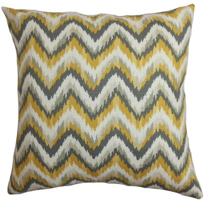 Perdita Zigzag Cotton Throw Pillow Cover