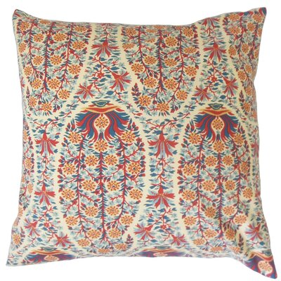 Gerlinde Floral Cotton Throw Pillow Cover Color: Red Blue