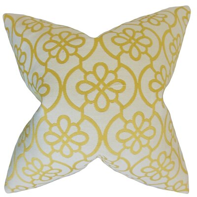 Indre Geometric Throw Pillow Cover Color: Banana