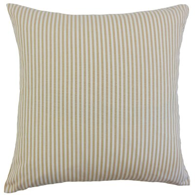Melinda Stripes Throw Pillow Cover Color: Honey