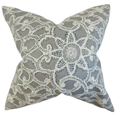 Brinley Geometric Cotton Throw Pillow Cover Color: Platinum